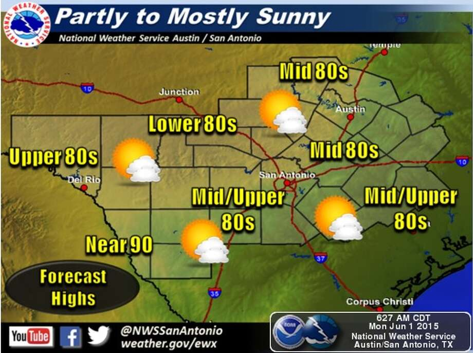 San Antonio is in for a dry week. Photo: National Weather Service