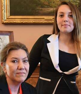Christy O'Donnell of Los Angeles is dying of lung cancer. She is speaking out in favor of California's assisted dying legislation, SB128. She is photographed here with her 20-year-old daughter, Bailey.