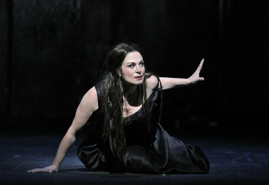 "Anna Caterina Antonacci rehearses for her role as Cassandre in ""The Trojans"" at S.F. Opera. Photo: Cory Weaver"
