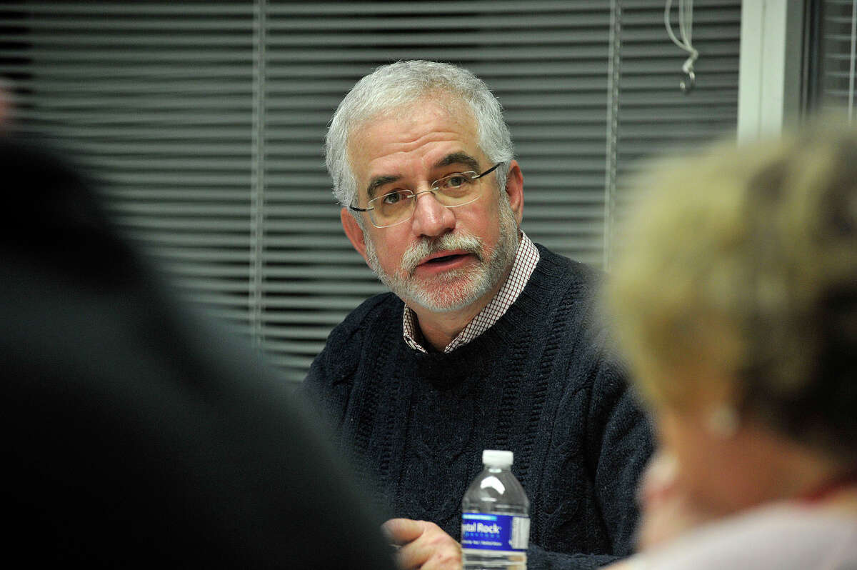 President of the Board of Representatives Randy Skigen (D-19) chairs the Steering Committee meeting at the Stamford Government Center in Stamford, Conn., on Monday, Dec. 8, 2014.