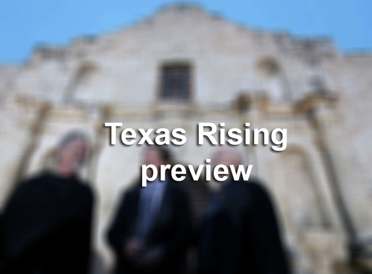 Texas Rising Red Carpet at the Alamo blur.