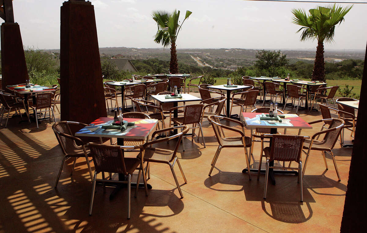 Aldaco's Stone Oak 20079 Stone Oak ParkwayAmazing view: Built on top of a hill in the Stone Oak area, this patio offers a fantastic view of the surrounding woods and city in the distance. When the sun begins to go down, a table here feels like a vacation getaway.