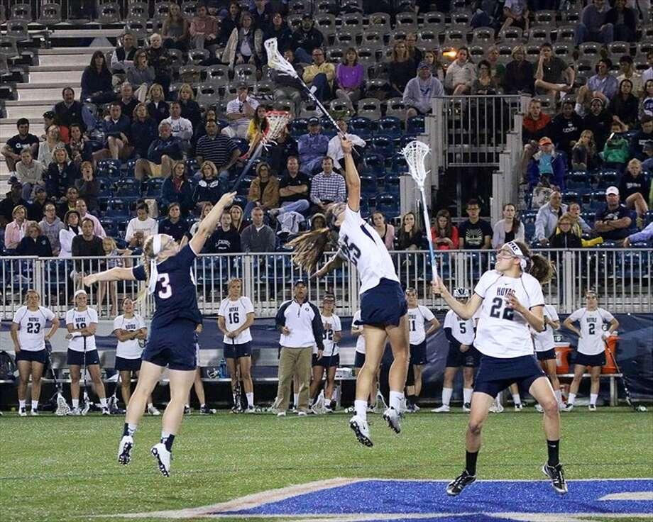Shaker High graduate Adrienne Devine will represent Georgetown University in the Intercollegiate Women's Lacrosse Coaches Association Division I North-South Senior All-Star game Saturday at Cabrini College in Radnor, Pa. (Courtesy of Eugene Devine)