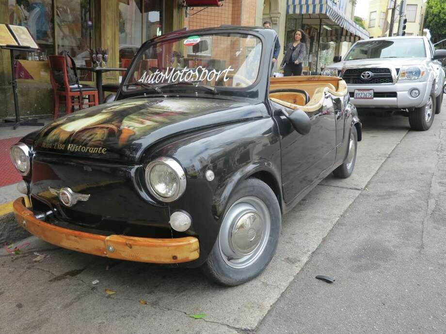 Mona Lisa restaurant owner Maurizio Florese bought this Fiat car 21 years ago for $35,000. Photo: Stephen Jackson/Hoodline