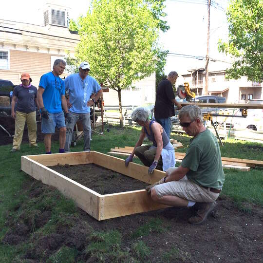Fourteen volunteers from Columbia County Habitat and the First Presbyterian Church spent a recent Sa