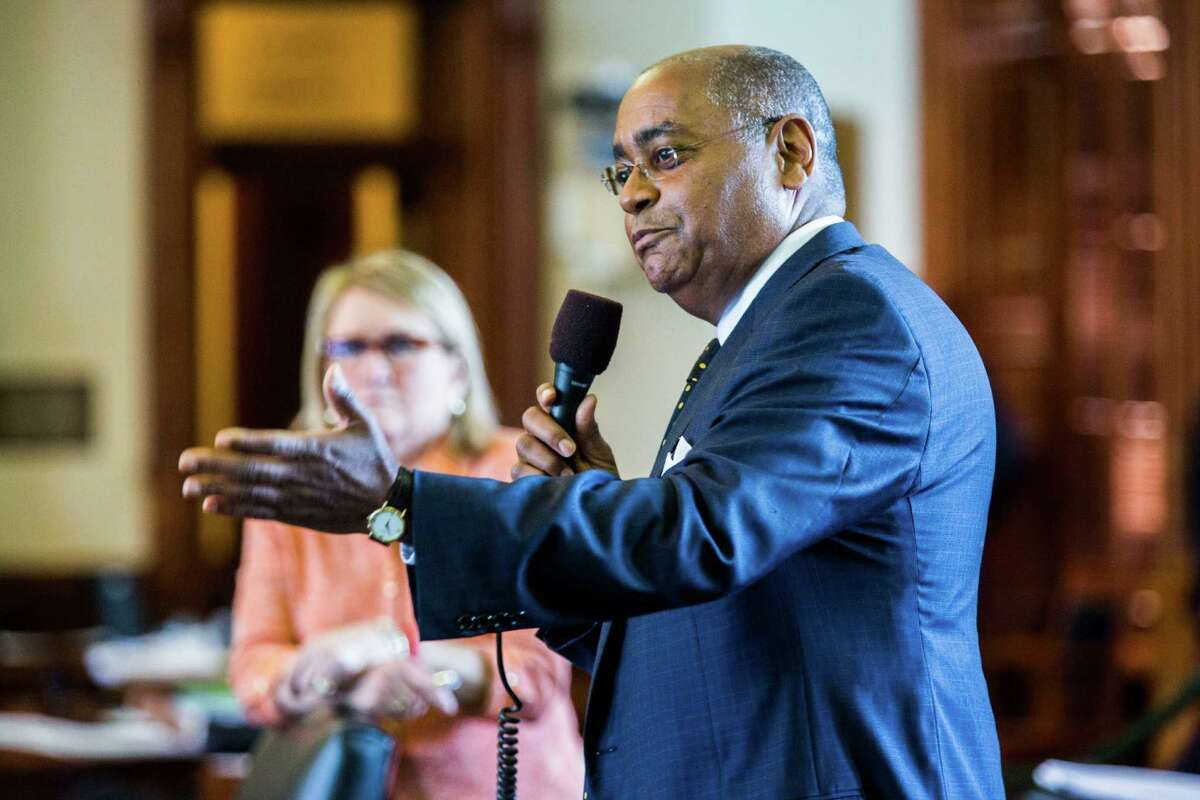 Sen. Rodney Ellis, of Houston, is shown at the state Capitol.