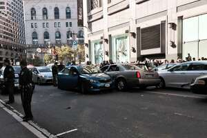 Car fleeing cops smashes into downtown S.F. traffic - Photo