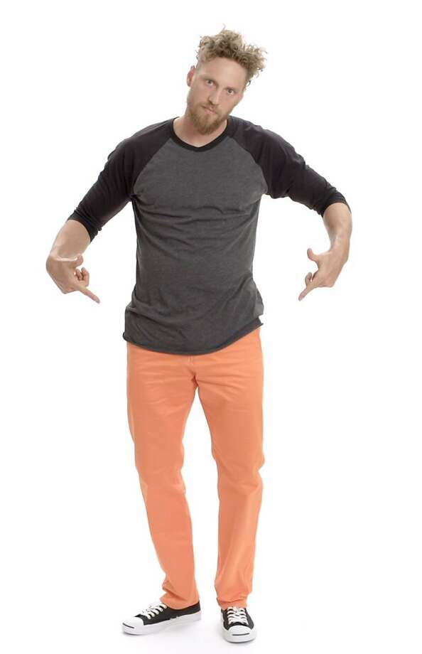 Giants outfielder Hunter Pence shows off the new #OrangeFriday Dockers dugout pants. Photo: Dockers