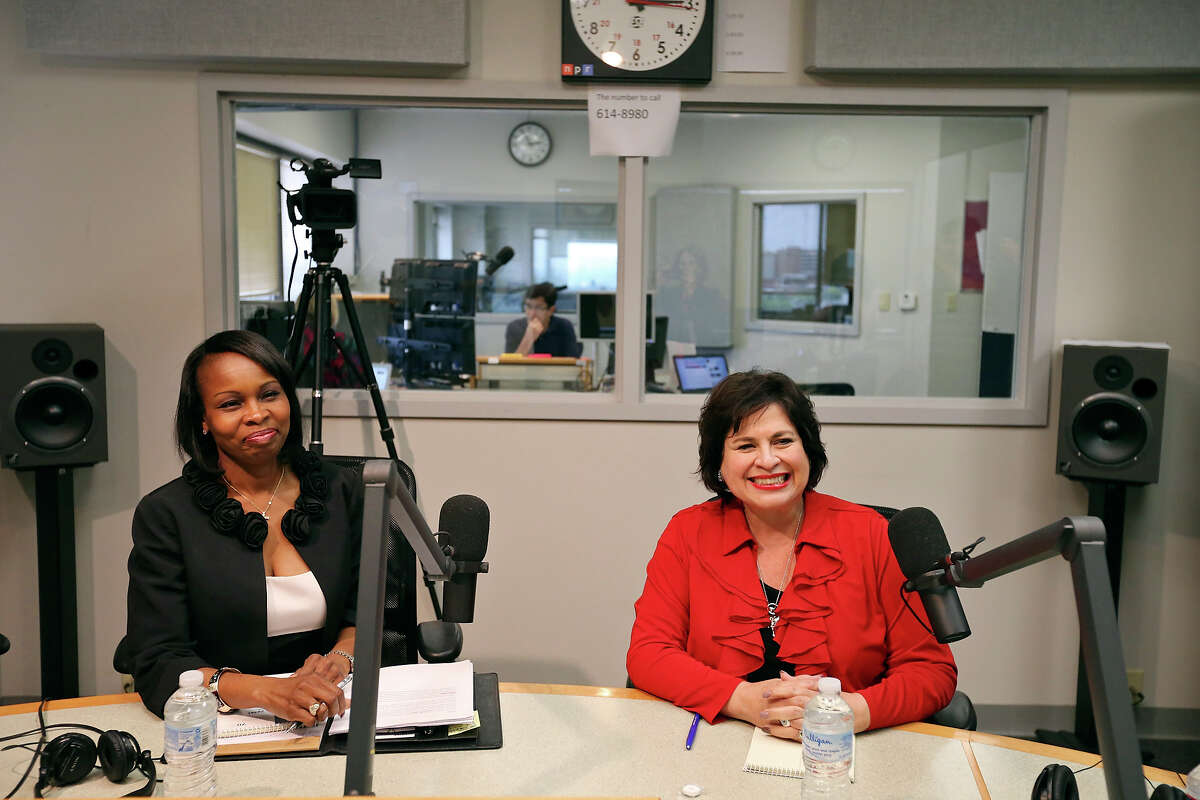 San Antonio mayoral candidates Mayor Ivy Taylor (left) and former state Sen. Leticia Van de Putte prepare for a debate hosted by Texas Public Radio on June 1. Neither candidate managed to inspire confidence in the race.