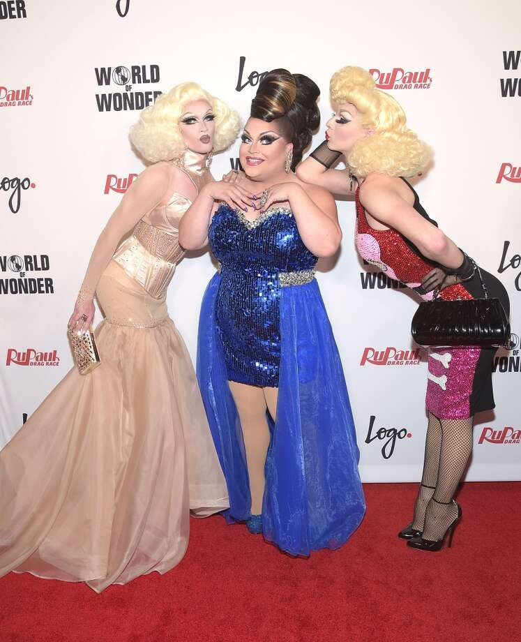 LOS ANGELES, CA - MAY 19:  Pearl, Ginger Minj and Violet Chachki attend RuPaul's Drag Race Season 7 Finale at the Orpheum Theatre on May 19, 2015 in Los Angeles, California.  (Photo by Jason Kempin/Getty Images  for Logo TV) Photo: Jason Kempin, Getty Images  For Logo TV