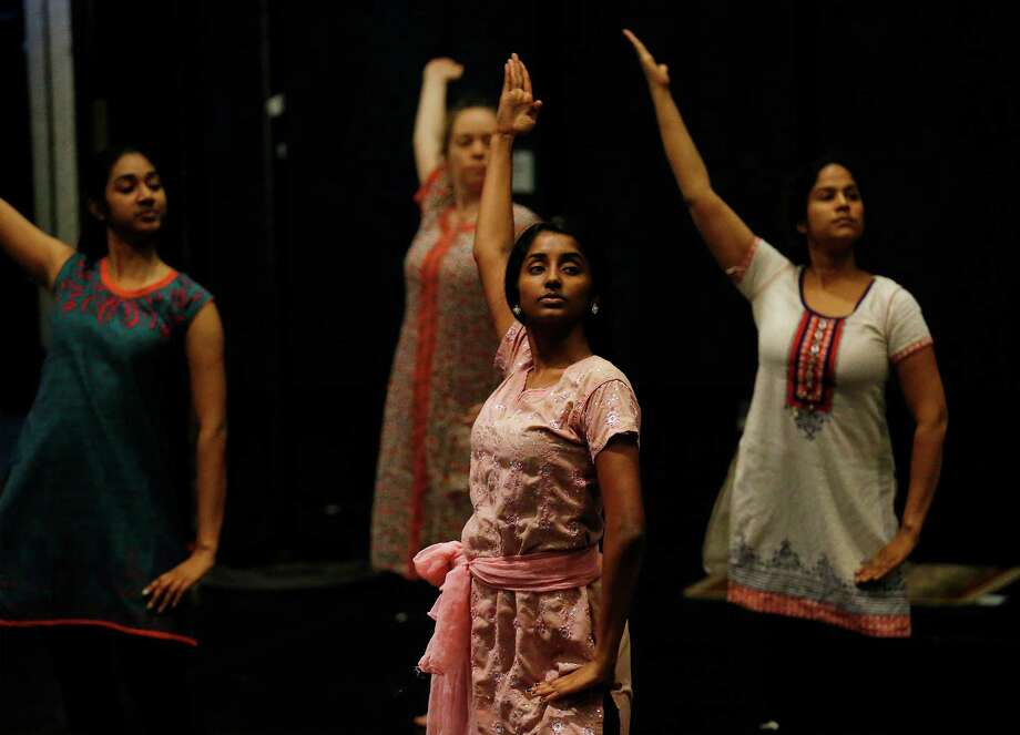 "Performers rehearse at the Carlos Alvarez Studio Theater for the upcoming show ""From the Mahabharata: The Great Dance-Off."" Photo: Kin Man Hui /San Antonio Express-News / ©2015 San Antonio Express-News"
