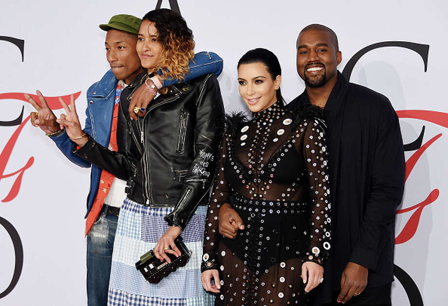 (L-R) Pharrell Williams, Helen Lasichanh, Kim Kardashian and Kanye West attend the 2015 CFDA Fashion Awards  at Alice Tully Hall at Lincoln Center on June 1, 2015 in New York City.  (Photo by Dimitrios Kambouris/Getty Images) Photo: Dimitrios Kambouris, Getty Images / 2015 Getty Images