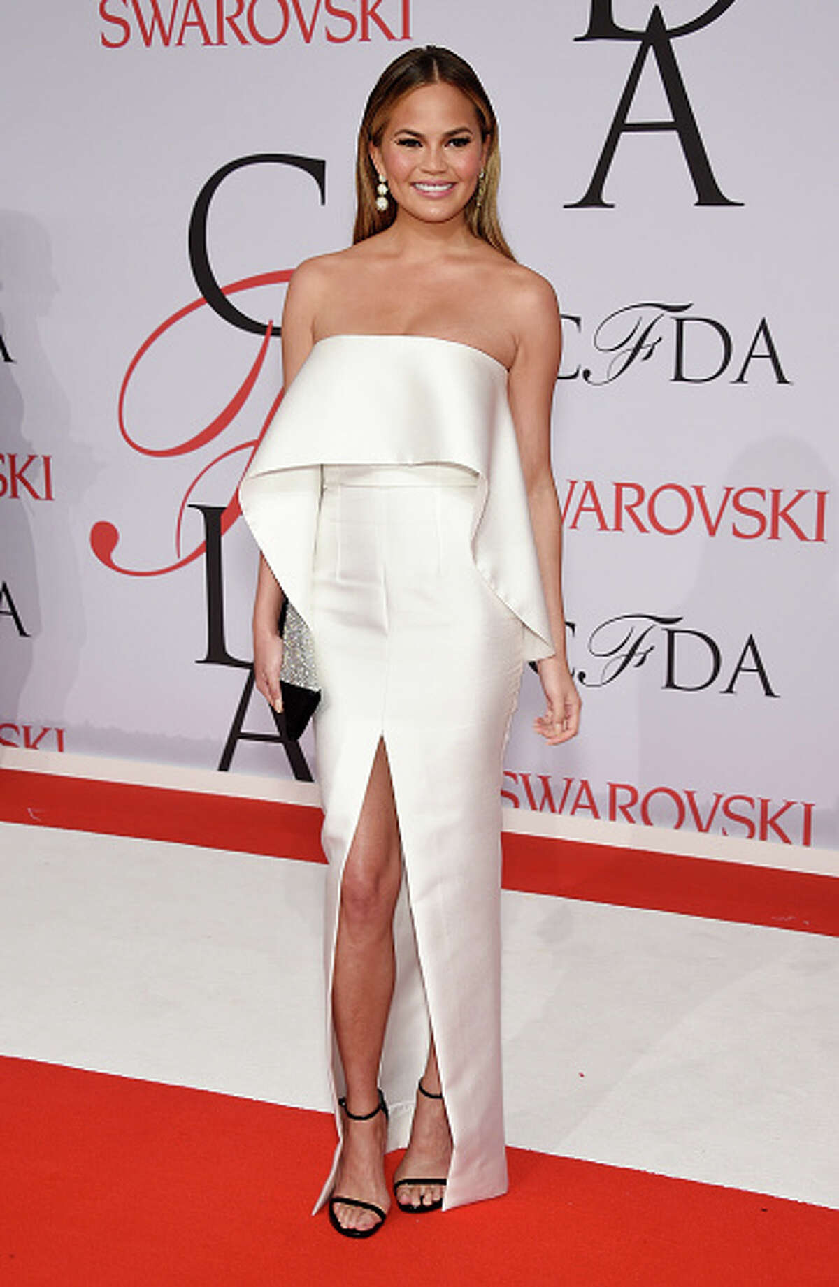 Model Chrissy Teigen attends the 2015 CFDA Fashion Awards at Alice Tully Hall at Lincoln Center on June 1, 2015 in New York City. (Photo by Dimitrios Kambouris/Getty Images)