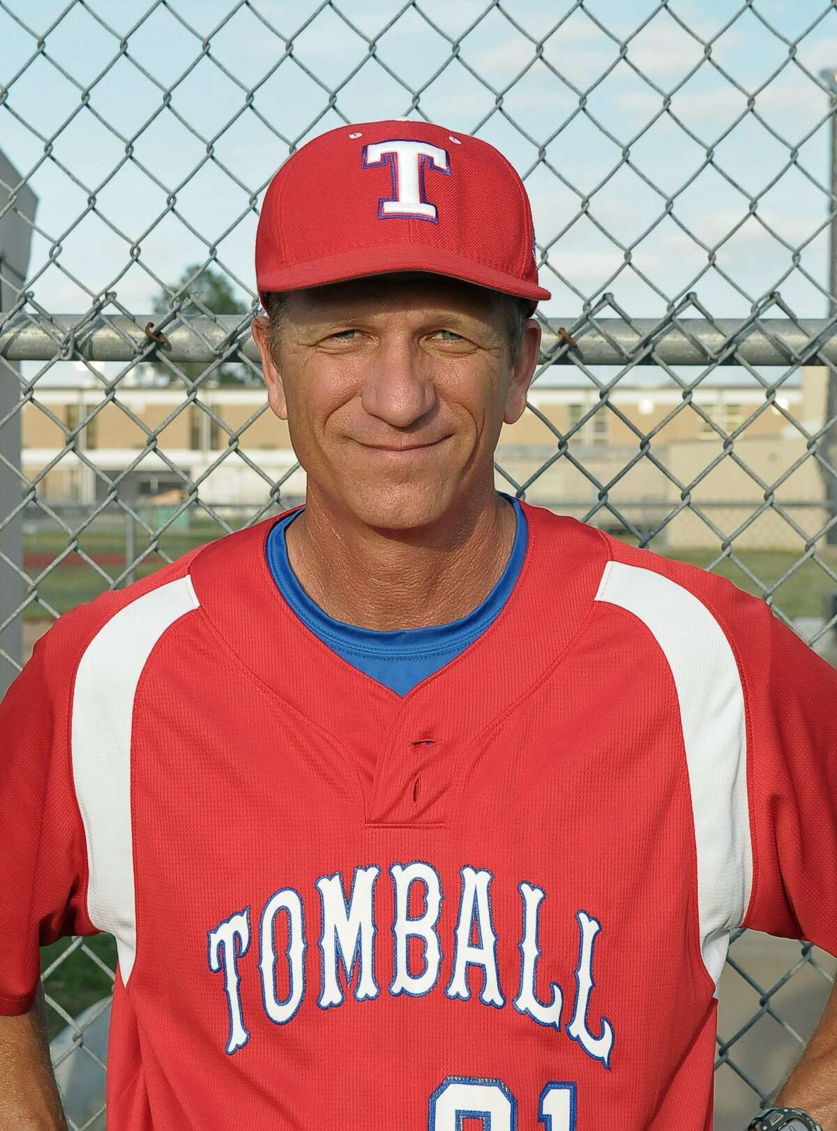 Tomball baseball head coach Doug Rush before their game with Spring Woods at Spring Woods Friday 04/11/14.