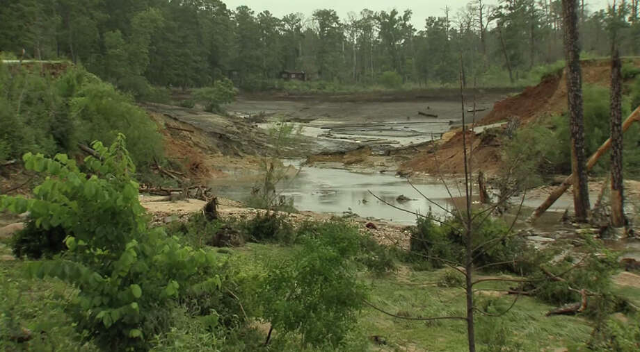 After hours of sustained heavy rainfall, a dam in Bastrop State Park failed, sending water rushing downstream  and leaving a trail of destruction. https://www.youtube.com/watch?v=1Bb603CAcHM Photo: Youtube/Texas Parks & Wildlife