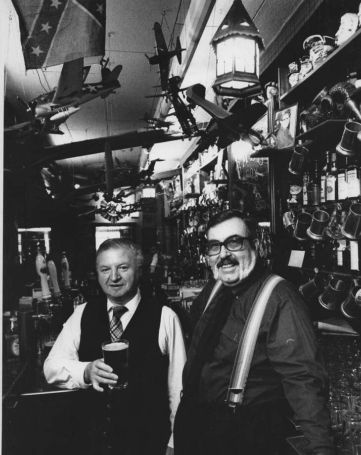 Douglas Kirk and Robert Johnson at Edinburgh Castle. Photo: Jerry Telfer, The Chronicle