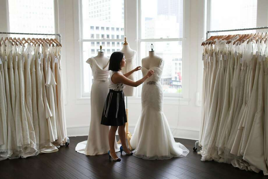 Trish Lee creates made-to-measure bridal gowns from her new Union Square studio. 323 Geary St., Suite 808, S.F. (415) 562-6553 Photo: Jeff Lee