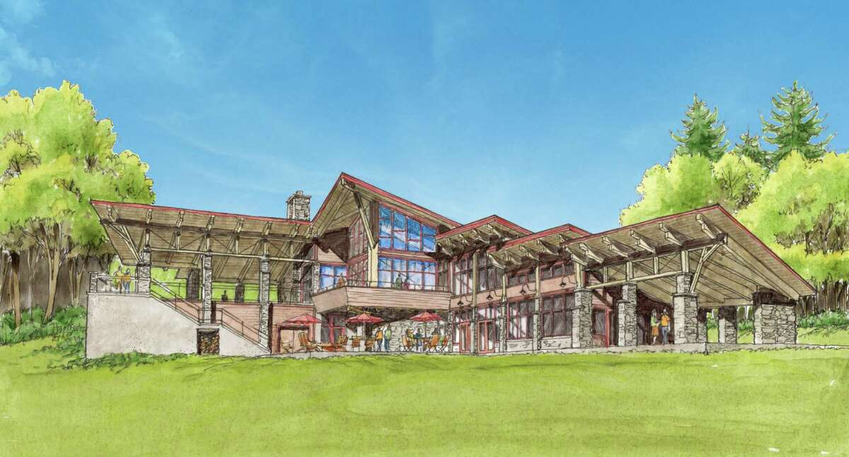 Rendering of new visitor's center planned for Thacher Park. June 2, 2015. (Courtesy of Saratoga Associates)