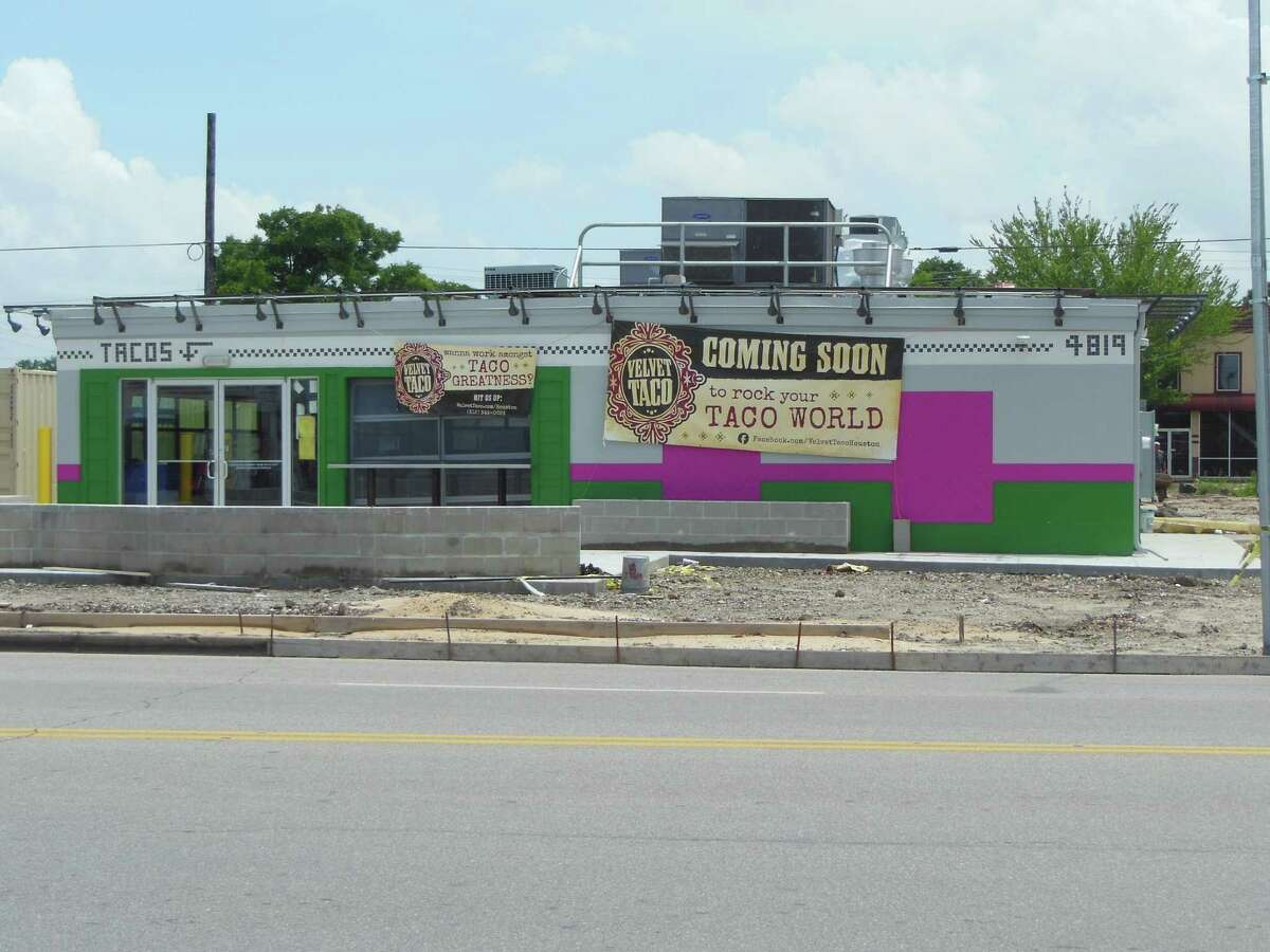 Construction crews are remodeling the former bar The Rig on Washington Avenue into Velvet Taco, a concept from the Dallas-based Fork It Over Restaurants group.