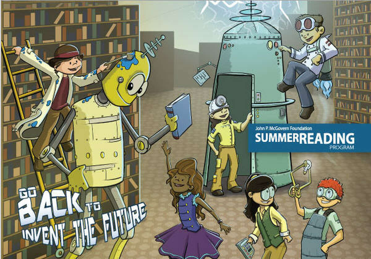 """Houston Public Libraryís Summer Reading Program is called """"Go Back to Invent the Future."""" Houston Public Libraryís Summer Reading Program is called """"Go Back to Invent the Future."""""""