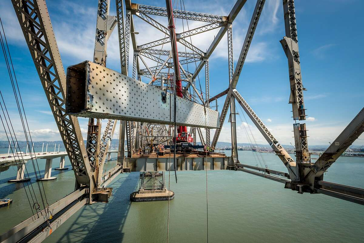 As the old east span of the Bay Bridge is being dismantled, pieces are being set aside for distribution to artists, individuals or organizations who will use them in civic and public arts projects.