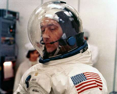 UNITED STATES - APRIL 12:  McDivitt, dressed in his spacesuit, was the mission Commander on Apollo 9. He also flew in space on the Gemini 4 mission. Apollo 9 was launched on 3rd March 1969 into Earth orbit where the complete Apollo Moon craft was tested for the first time.