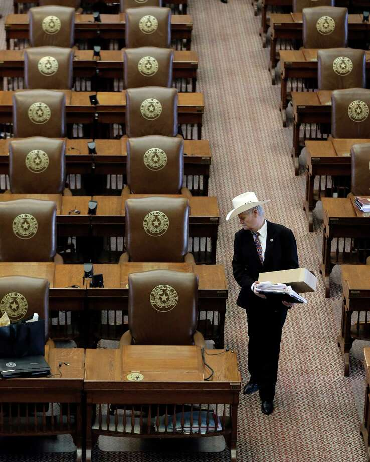 """Rep. Charles """"Doc"""" Anderson, R-Waco, and his fellow members of the House joined the Senate in adjourning early on the final day of the legislative session, Monday, June 1, 2015, in Austin. (AP Photo/Eric Gay) Photo: Eric Gay, STF / AP"""