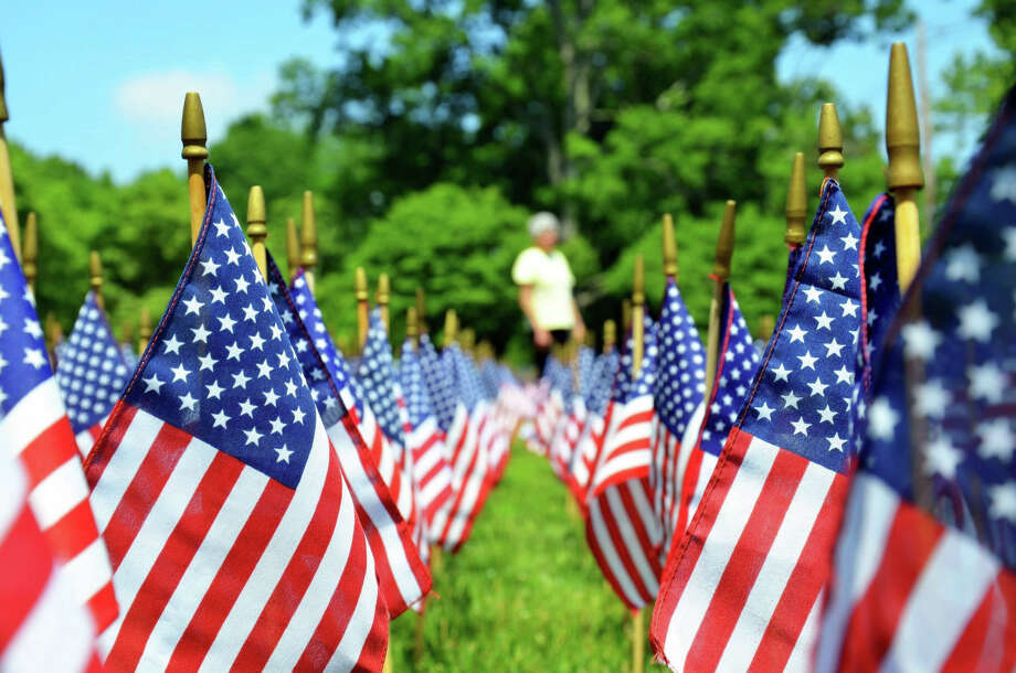"The ""Field of Flags"" display returns to Greefield Hill Congregational Church on June 20. Photo: Contributed Photo / Contributed Photo /  Fairfield Citizen contributed"