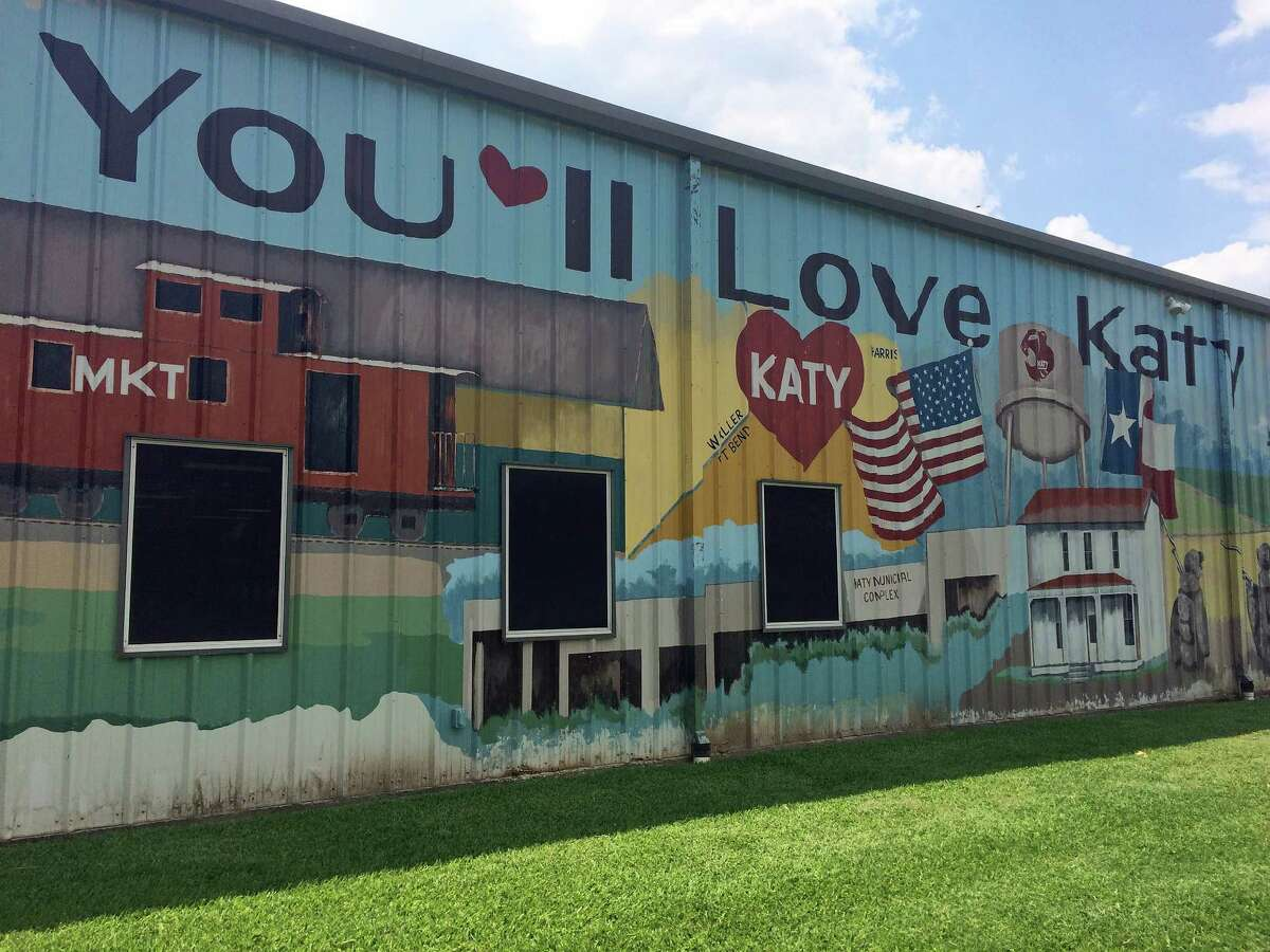 Katy Heritage Museum houses relics from Katy's past, and its exterior bears a coloful mural. Also on-site: historic homes.