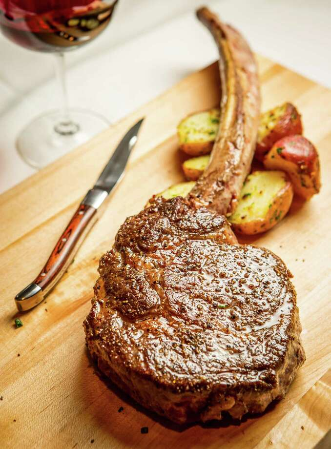 American wagyu long bone ribeye from Killen's Steakhouse in Pearland. Photo: Nick De La Torre / © de la Torre Photos LLC