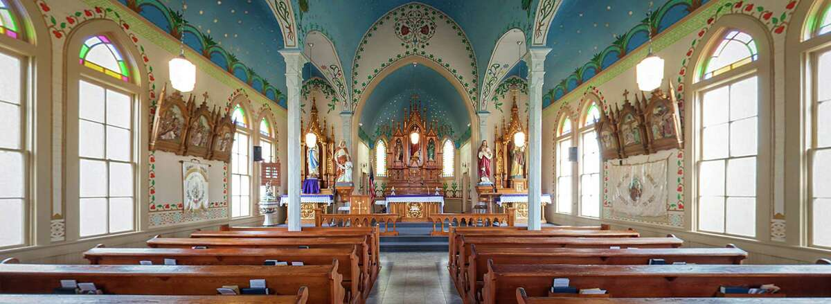 A panoramic view of Sts. Cyril and Methodius Church photographed on Thursday, March 29, 2012, in Dubina, Texas. ( Smiley N. Pool / Houston Chronicle )