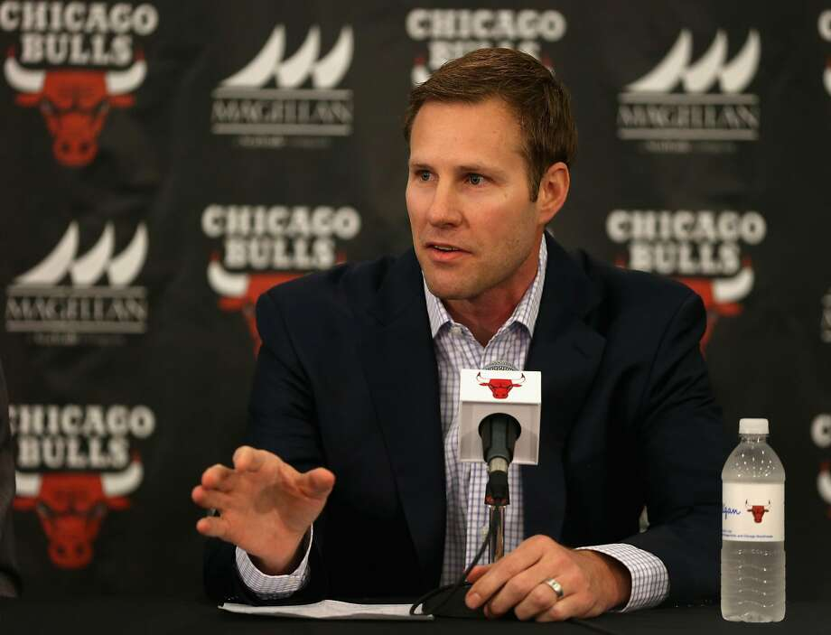 CHICAGO, IL - JUNE 02:  New Chicago Bulls coach Fred Hoiberg speaks at a press conference at the Advocate Center on June 2, 2015 in Chicago, Illinois. NOTE TO USER: User expressly acknowledges and agress that, by downloading and or using the photograph, User is consenting to the terms and conditions of the Getty Images License Agreement.  (Photo by Jonathan Daniel/Getty Images) Photo: Jonathan Daniel, Getty Images