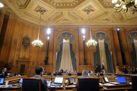 A board of supervisors meeting where supervisor David Campos introduced a bill putting a temporary moratorium on the construction of market-rate residential developments, at City Hall in San Francisco, CA Tuesday, June 2, 2015.
