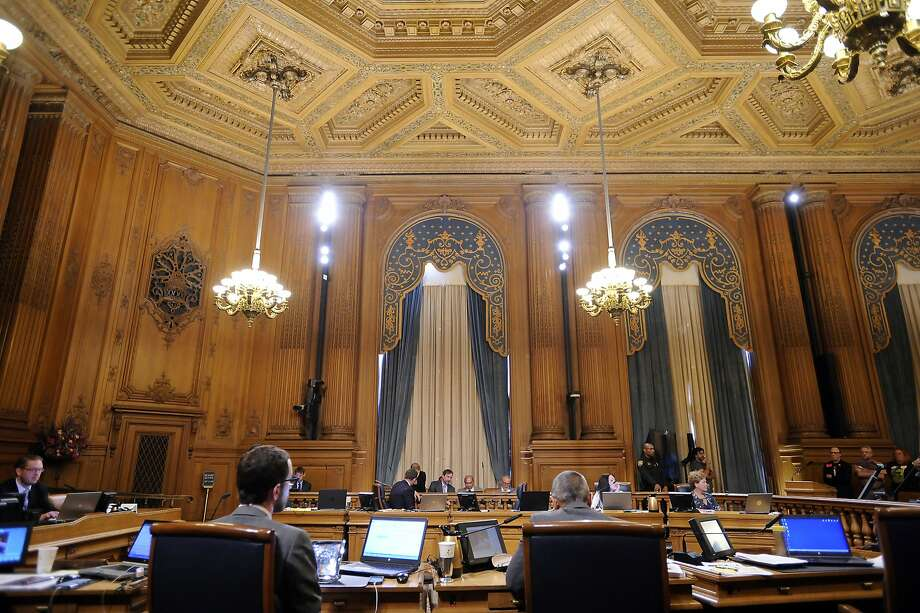 A board of supervisors meeting where supervisor David Campos introduced a bill putting a temporary moratorium on the construction of market-rate residential developments, at City Hall in San Francisco, CA Tuesday, June 2, 2015. Photo: Michael Short, Special To The Chronicle