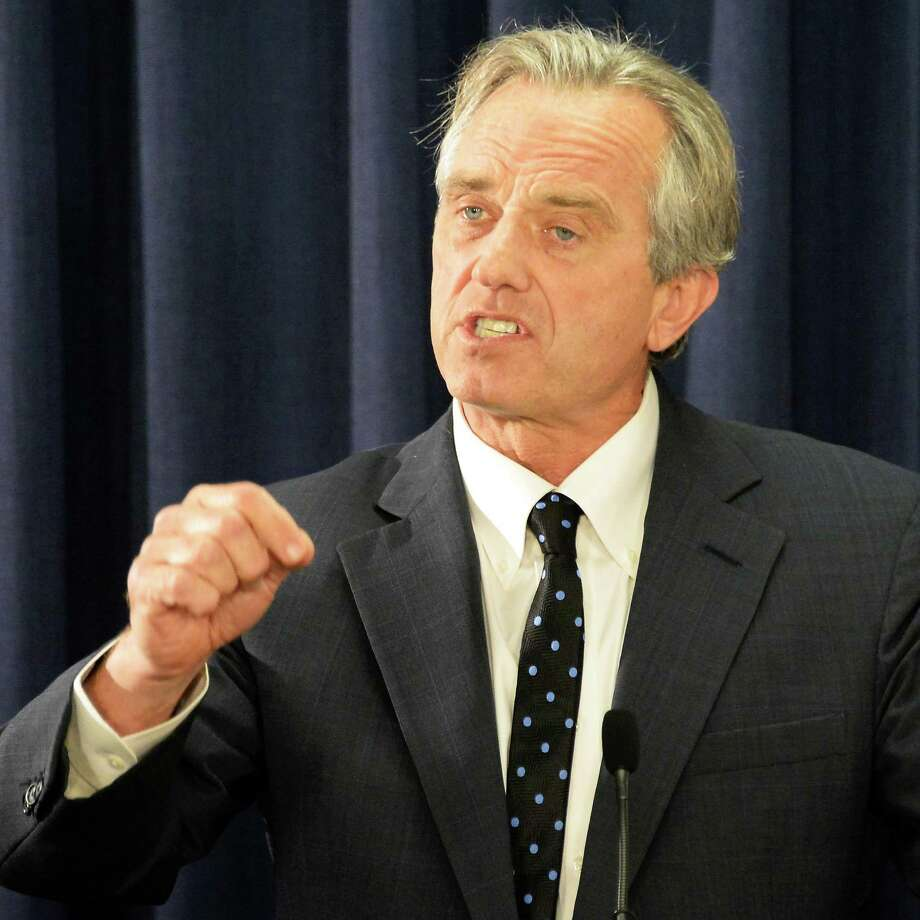 Robert F. Kennedy, Jr., voices his his opposition to New York Assembly Bill A791 to mandate meningococcal injections for sixth and eleventh graders during a news conference in the LOB Tuesday June 2, 2015 in Albany, NY.  (John Carl D'Annibale / Times Union) Photo: John Carl D'Annibale / 00032111A