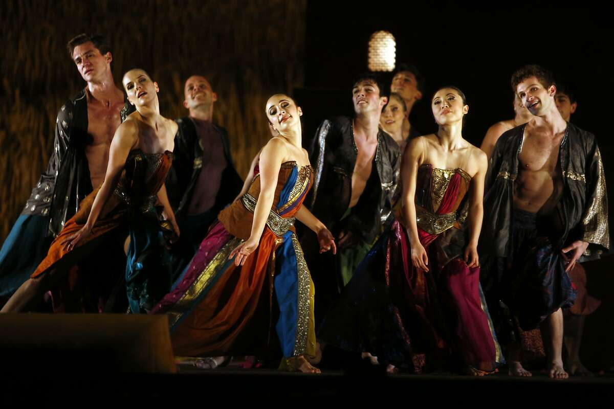 """San Francisco Opera dress rehearsal of Berlioz's opera """"Les Troyens"""" at the War Memorial Opera House in San Francisco, Calif., on Tuesday, June 2, 2015."""
