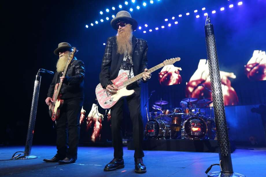 "ZZ Top performs at the Fayette County Fair on Saturday night in La Grange, not too far away from where the infamous ""Chicken Ranch"" brothel once stood. Click through to see photos from the brothel's history of service to salacious Texans... Photo: Houston Chronicle"