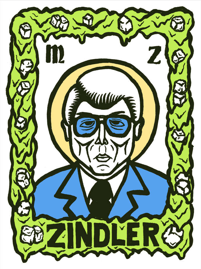 """Saint Marvin"" a print commemorating Houston news legend Marvin Zindler by local artist Josh Higgins Photo: Josh Higgins"