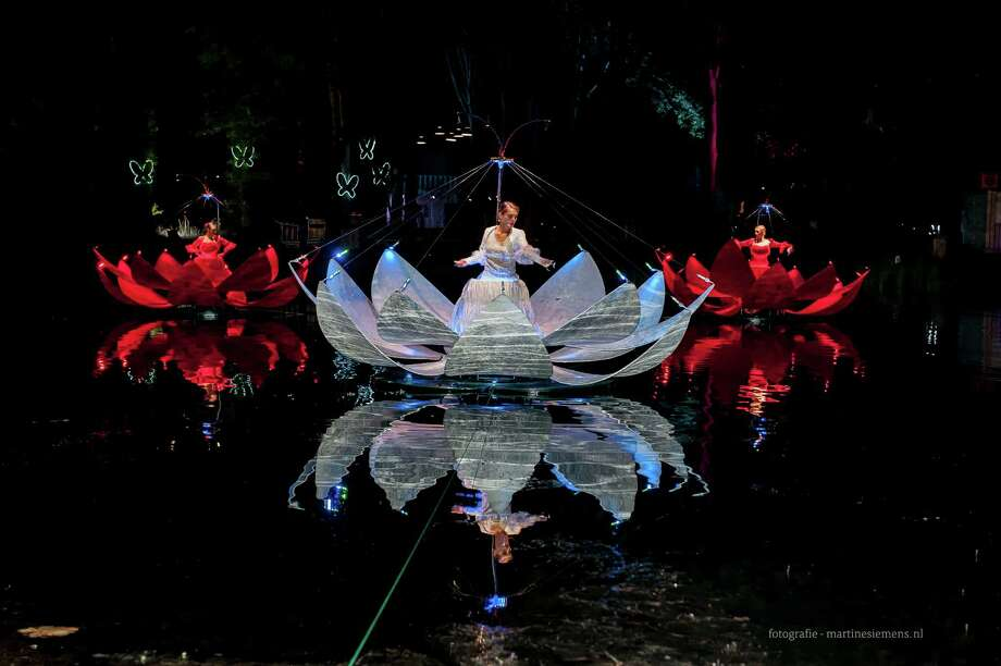 """""""Chanson d'Eau"""" (""""Song of Water""""), by Belgian composer and performance artist Yasodhara Romero Fernandes, will unfold on Kinder Lake at Discovery Green this weekend as part of the """"Maravilloso!"""" water festival. Photo: Courtesy Of The Artist"""
