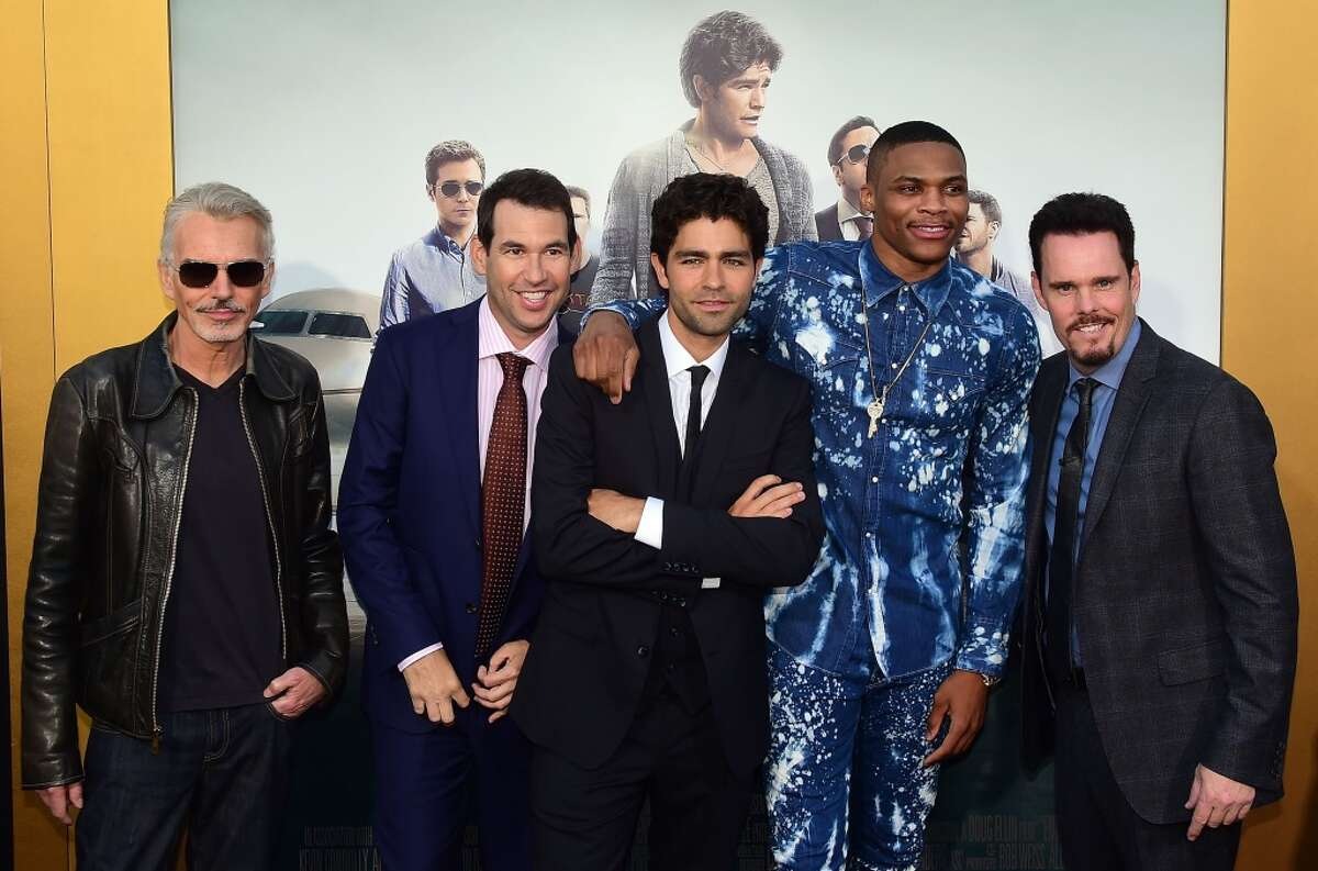 """The HBO show """"Entourage"""" had no problem making fans among athletes over the years, including NBA star Russell Westbrook at the June 1 premiere in Los Angeles. We look at the athletes who had cameos on the TV show and the movie that came out Wednesday."""