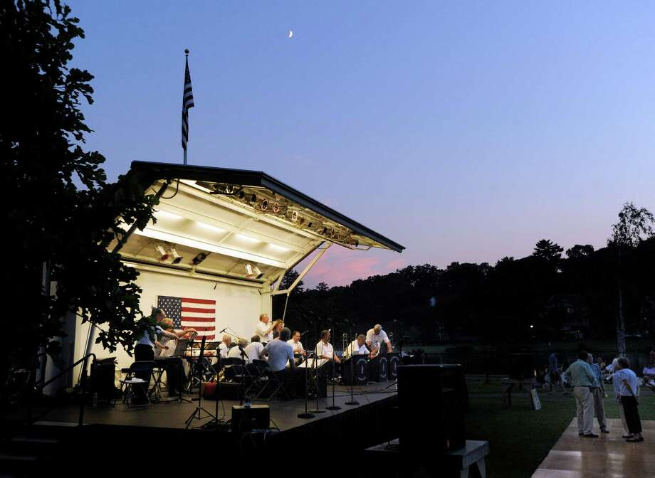 The Bob Button Orchestra will perform at Binney Park in Old Greenwich, Conn., on Wednesday, June 24, 2015 from 7:15 to 8:45 pm., to kick off Greenwich's summer concert series. The band, which plays tunes from the big band era, has traditionally kicked off this summer tradition. The rain date for this concert is Thursday, June 25, 2015. Photo: Bob Luckey, ST / Greenwich Time