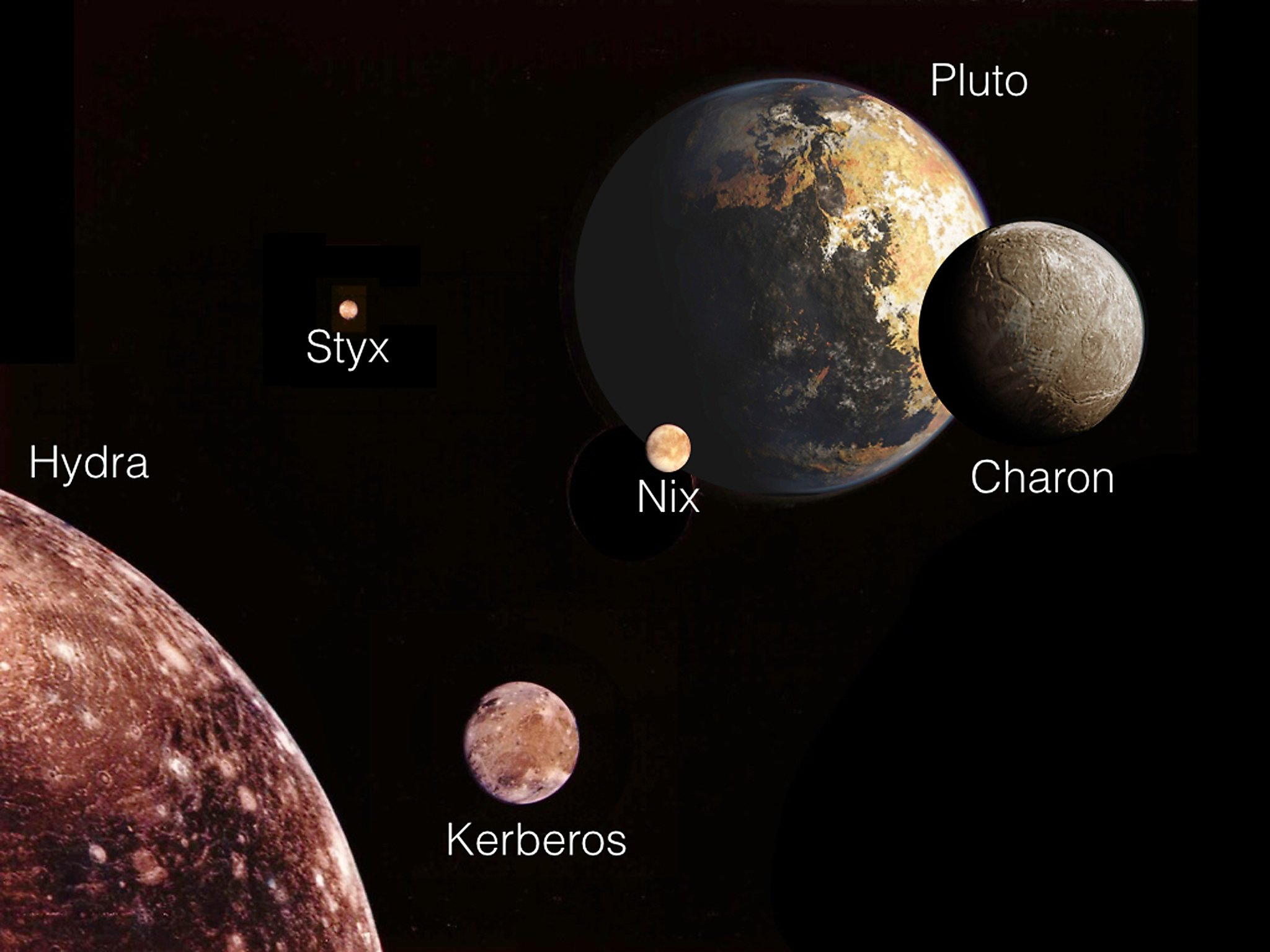 pluto's moons pictures - HD1200×900