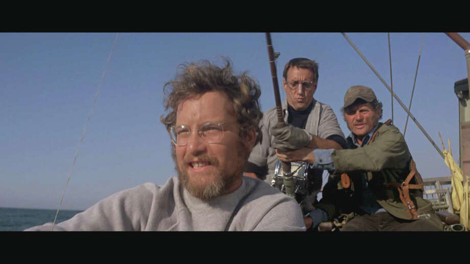 """An undated handout photo of, from left, Richard Dreyfuss, Roy Scheider and Robert Shaw in """"Jaws."""" The 1975 summer blockbuster is set to release in a Bly-ray edition on Aug. 14, 2012. (Universal Studios Home Entertainment via The New York Times) -- NO SALES; FOR EDITORIAL USE ONLY WITH STORY SLUGGED HOME-VIDEO-RELEASES-ADV12. ALL OTHER USE PROHIBITED. -- PHOTO MOVED IN ADVANCE AND NOT FOR USE - ONLINE OR IN PRINT - BEFORE AUGUST 12, 2012. Photo: UNIVERSAL STUDIOS HOME ENTERTAIN / UNIVERSAL STUDIOS HOME ENTERTAIN"""