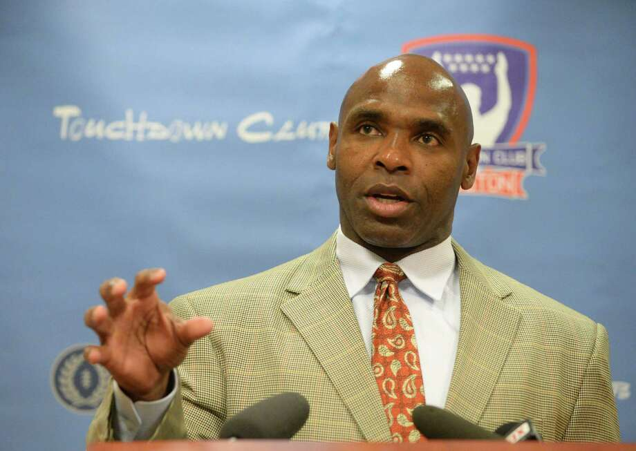 Charlie Strong, head football coach for the Texas Longhorns, speaks to reporters during a news conference before the Touchdown Club of Houston luncheon Wednesday, June 3, 2015, in Houston. Photo: Jon Shapley, Houston Chronicle / © 2015 Houston Chronicle