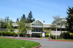 Bellevue College's B Building, pictured in a King County Assessor's Office photo. Samammish resident Robert Whitehead is alleged to photographed three Bellevue College students in a bathroom at the building.