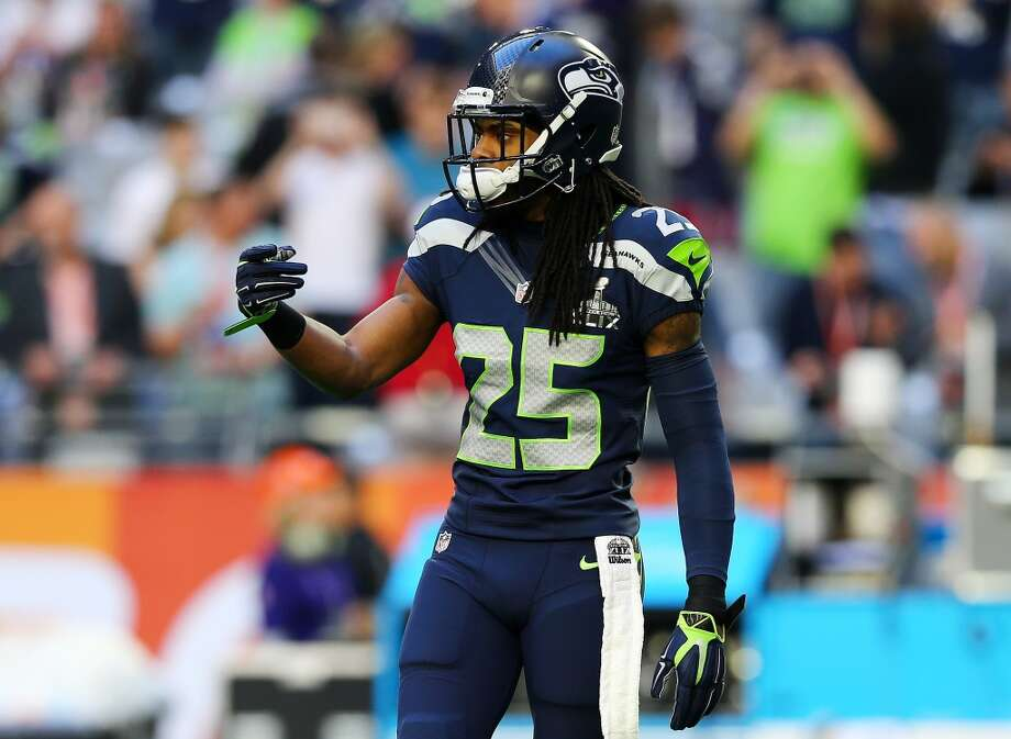 "No. 7: Cornerback Richard Sherman Prisco says:  ""He is perfect for their scheme, but I think he could play in any scheme. He is physical mauler who is long and can play both zone and man schemes. He can be a bit thin-skinned, but he's earned his spot here."" Photo: Elsa, Getty Images"