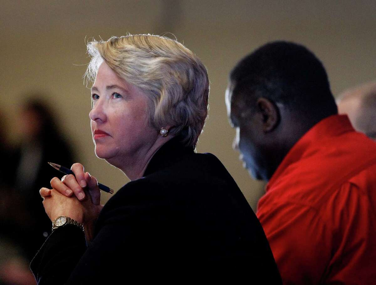 Mayor Annise Parker at the meeting