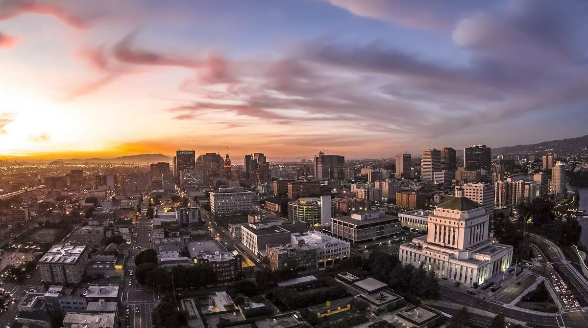 An aerial view of Oakland, California, on Wednesday, Feb. 25, 2015.