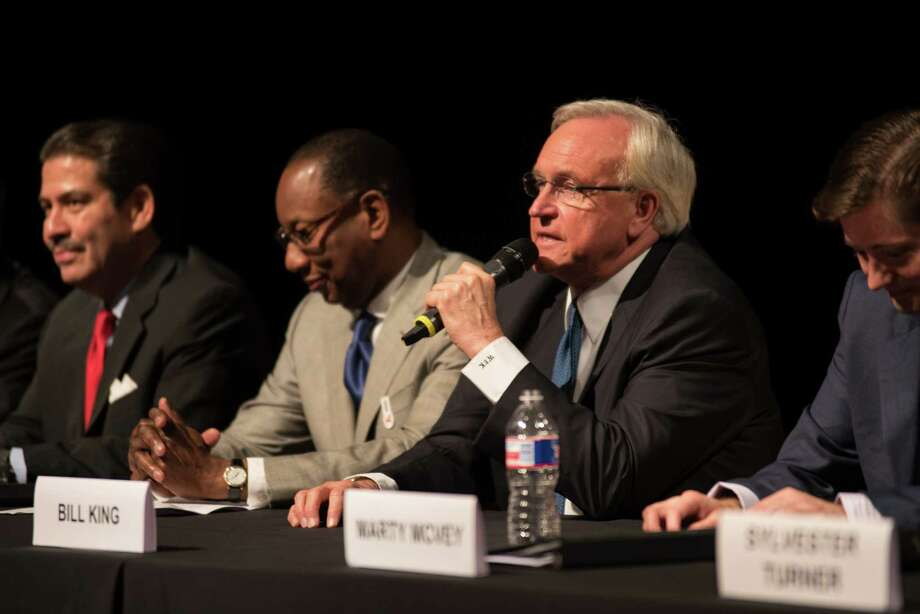 Bill King at the Mayoral Forum focused on Arts and Culture on June 3, 2015 at the Asia Society Texas in Houston, TX. Photo: Jamaal Ellis, For The Chronicle / ©2015 Houston Chronicle