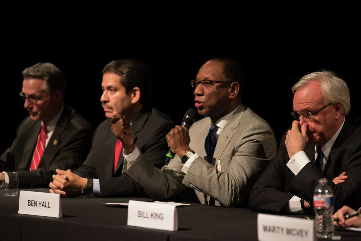 Ben Hall at the Mayoral Forum focused on Arts and Culture on June 3, 2015 at the Asia Society Texas in Houston, TX.